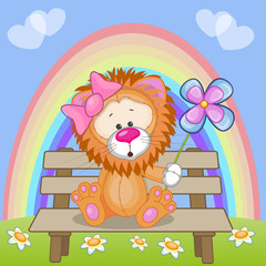 Lion with flower