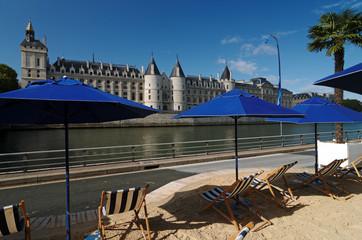 Paris plage, île de la cité