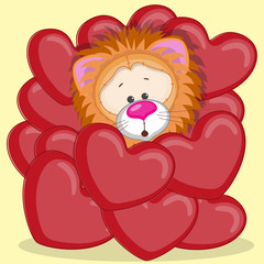 Lion in hearts