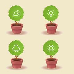 plant lighting needs: Icon concepts