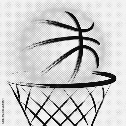 Plexiglas Sportwinkel Basketball, vector