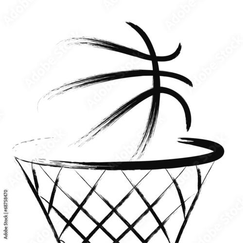 Fototapeta Basketball, vector