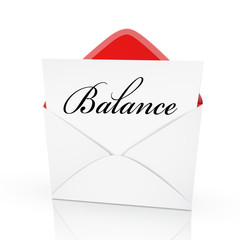 the word balance on a card
