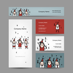 Design of business cards with corporate party