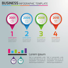 4 Steps process business infographics, light vector background