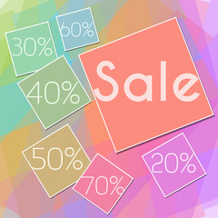 Colorful Squares Sale Square