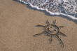 canvas print picture - beach