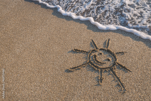 canvas print picture beach