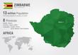 Zimbabwe world map with a pixel diamond texture.