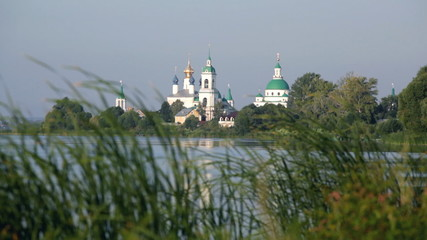View of Spaso-Yakovlevsky Monastery in Rostov Veliky from Nero's
