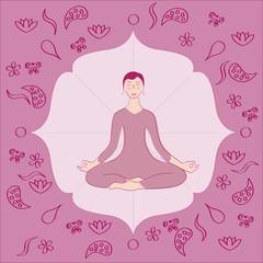 yoga femme lotus