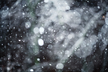 snow bokeh texture on black background