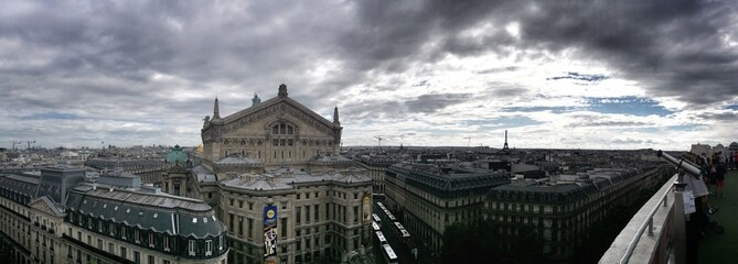 Paris, rooftop view