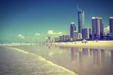Naklejka Surfers Paradise, Australia. Cross processed filtered tone.