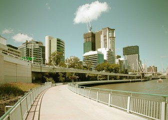 Brisbane bike route. Cross processed filtered tone.