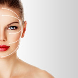 Close-up of woman's face ready for rejuvenation treatment - 68761412