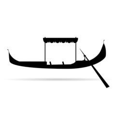 gondola silhouette vector illustration