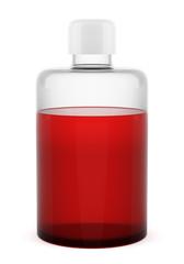 transparent blank shampoo bottle isolated on white background