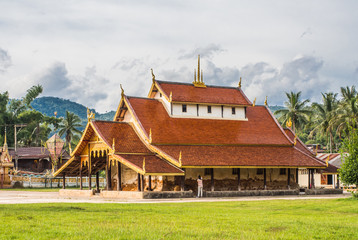 Buddhist monastery in Thai temple