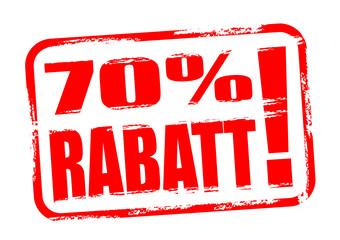 70 % Rabatt