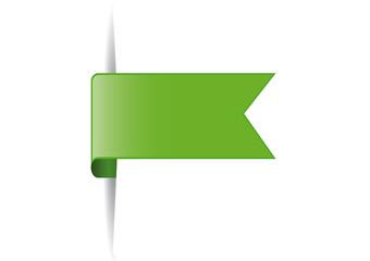 green bookmark desig element