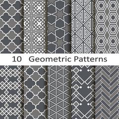 set of ten geometric patterns