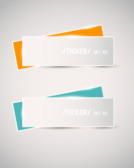 colorful shiny long stickers