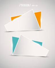 colorful shine paper stickers