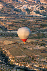 Cappadocia,  the flight with the balloon at sunrise