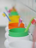 Fototapety kids toothbrushes mugs