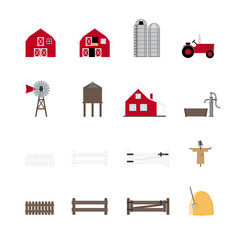 Farming and Agriculture Vector Icon Collection