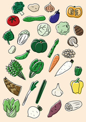 vegetables color icon 野菜 カラー アイコン