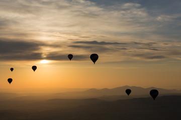 Cappadocia,  the flight with the balloon at sunrise