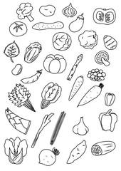 vegetables icon 野菜 アイコン