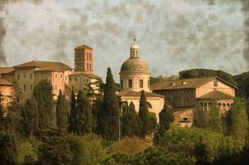 Urban scenic of Rome, Italy - Vintage