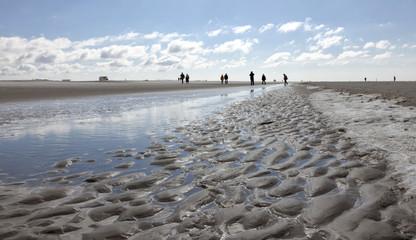 Strand von Sankt Peter Ording bei Ebbe