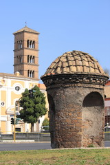 Sentry box in Rome. Italy