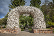 Elk Antler Arches in Jackson Town Square, Wyoming - 68765653