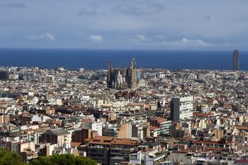 Skyline of Barcelona from Park Güell