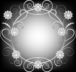 jewelry floral frame