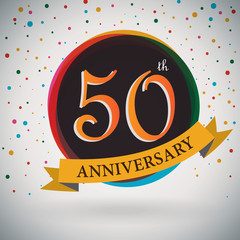 50th Anniversary poster/template retro style -Vector Background