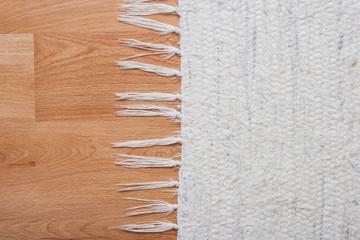 Floor with white carpet