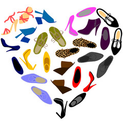 shoes in shape of heart