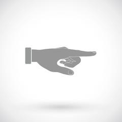 Hand pointer icon