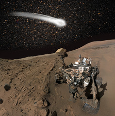 """comet over the Martian""""Elements of this image by NASA """""""