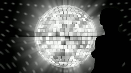 Mirror ball dancer.