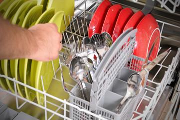Loading dishwasher