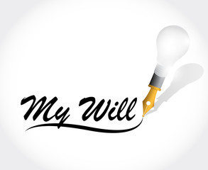 my will message illustration design