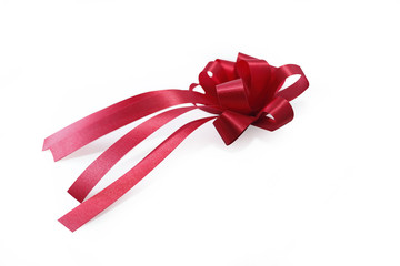 Red ribbon and bow