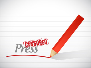 censored press message illustration design